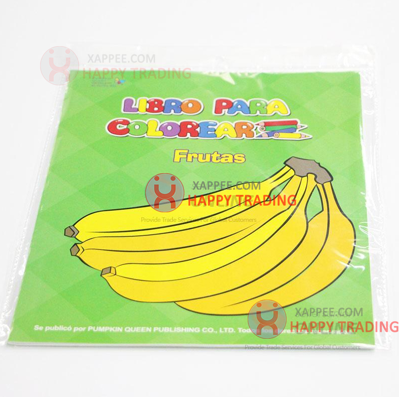 Wholesale Libro Paper Coloring Book Frutas For Kids Drawing Books